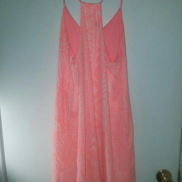 Dresses & Skirts - Summertime Coral & White dress